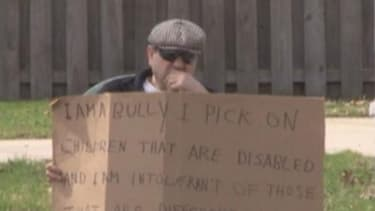 Ohio man ordered to hold 'I am a bully' sign on street corner for 5 hours