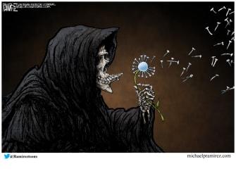 Editorial Cartoon U.S. COVID death