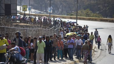 Waiting in line for hours is now a regular occurrence in Venezuela.