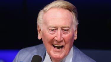 Former Dodgers broadcaster Vin Scully.