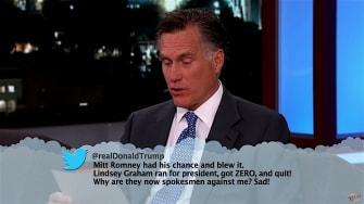 Mitt Romney reads mean tweets from Donald Trump