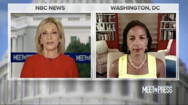 Andrea Mitchell and Susan Rice.