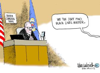 Editorial Cartoon U.S. chauvin guilty george floyd black lives matter