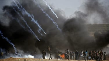 Israel fires tear gas at protesters