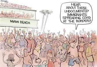 Editorial Cartoon U.S. spring break covid