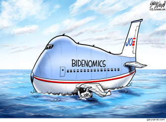 Political Cartoon U.S. biden jobs