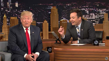 Donald Trump and Jimmy Fallon discuss coin tosses on The Tonight Show