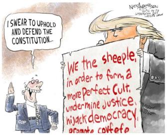 Political Cartoon U.S. Trump MAGA election
