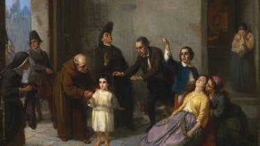 The Kidnapping of Edgardo Mortara, 1862, by Moritz Daniel Oppenheim.