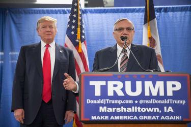 President Trump and Sheriff Joe Arpaio.