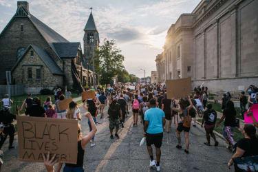 Kenosha, Wisconsin, protest.