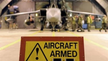 A British defense aircraft prepares to join the multi-national action against Libyan leader Moammar Gadhafi.