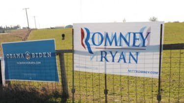 Obama Romney campaign signs