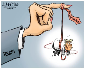 Political Cartoon U.S. Impeachment Trial Delay