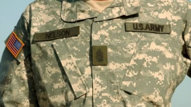 A U.S. Army sergeant sports the pixelated uniform in 2005: This ill-conceived camouflage turned out to be too easy to spot in all terrains.