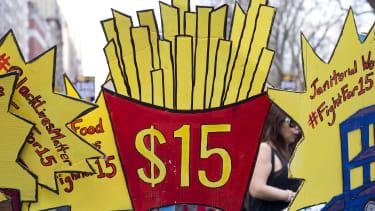 Minimum wage rally in New York.
