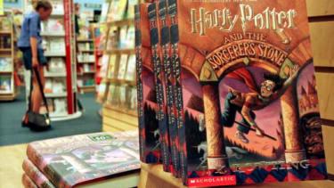 Copies of Harry Potter books.