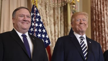Secretary of State Mike Pompeo and President Trump.