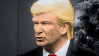 President Trump and Alec Baldwin.
