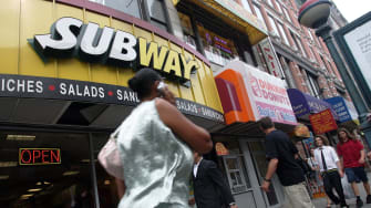 A Subway in New York City.