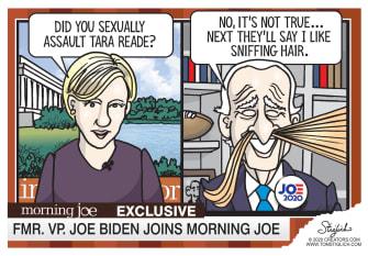 Editorial Cartoon U.S. Joe Biden Tara Reade allegations morning joe