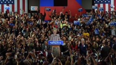 Hillary Clinton claims victory.