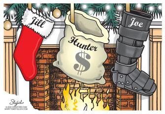 Political Cartoon U.S. Biden Jill Hunter boot