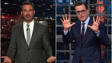 Stephen Colbert and Jimmy Kimmel on Corey Lewandowski