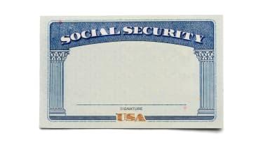 A blank Social Security card.