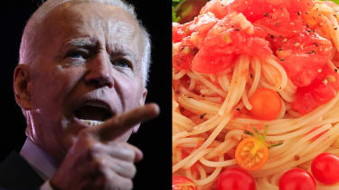 Joe Biden and the object of his desire.