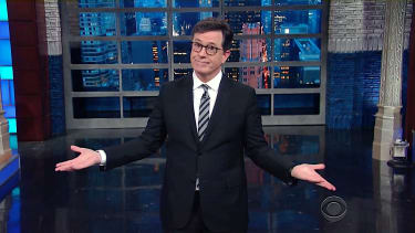 Stephen Colbert talks about Trump's unguarded nuclear arsenal