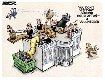 Political Cartoon U.S. White House Kellyanne Conway
