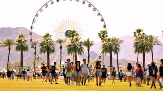 Concert goers at Coachella in 2018.