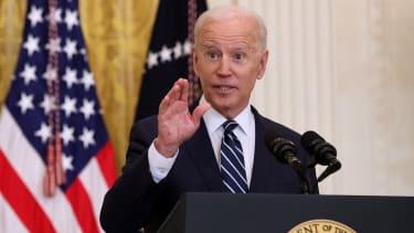 Biden gives a press briefing