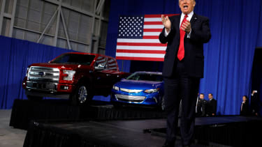 President Trump speaks at a Michigan manufacturing company.