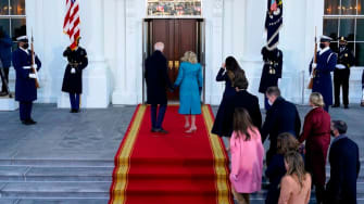 The Bidens arrive at the White House