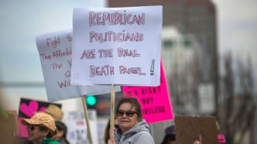 An anti-Trump protest