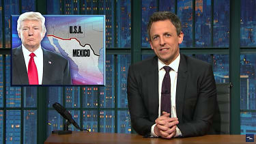 Seth Meyers has some questions about the Trump border wall