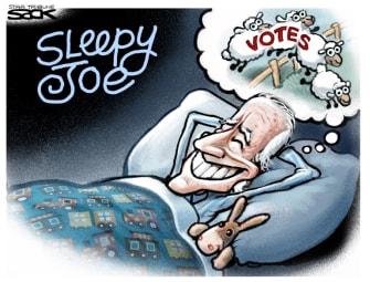 Political Cartoon U.S. Biden votes