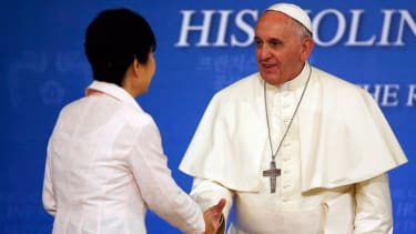 Pope Francis asks Koreas to avoid 'fruitless' criticisms of each other