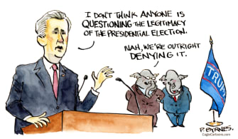 Political Cartoon U.S. kevin mccarthy gop big lie
