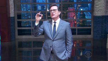 "Stephen Colbert talks with ""God"""