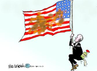 Political Cartoon U.S. Biden2020 victory