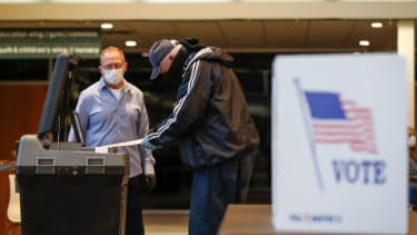 Voters cast their ballots in Wisconsin's April presidential primary.