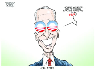 Political Cartoon U.S. biden obama