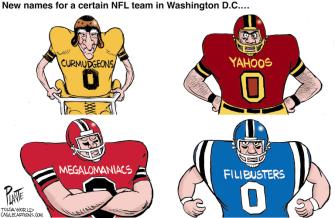 Editorial Cartoon U.S. Washington Redskins name change