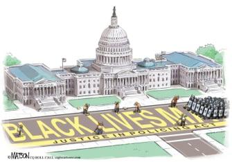 Editorial Cartoon U.S. Congress BLM George Floyd protests