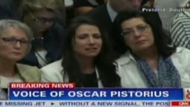 Oscar Pistorius breaks down on the stand, forces trial to adjourn for the day