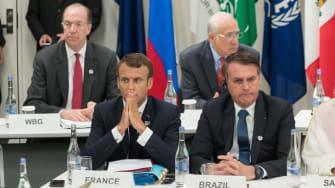 France's Emmanuel Macron and Brazil's Jair Bolsonaro