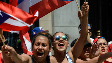Puerto Ricans march in New York